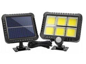 Azari Solární nástěnné světlo s PIR čidlem 120LED
