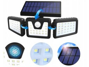 Azar Solární světlo s PIR čidlem 50W