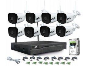 Zestaw monitoringu 8 kamer Full HD WiFi IR 25m 1TB