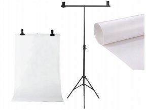 ZESTAW DO TEL TYP T ZABKI TLO PVC 100x200cm BIALE