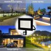 Lampa Naswietlacz LED 30W CZUJNIK RUCHU CERTYFIKAT Ksztalt Reflektor