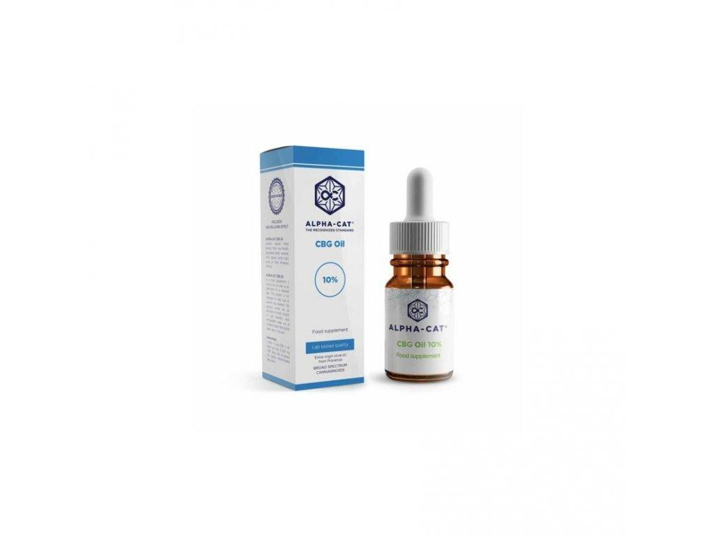 alpha cat Oil 10 and box CBG canatura olej