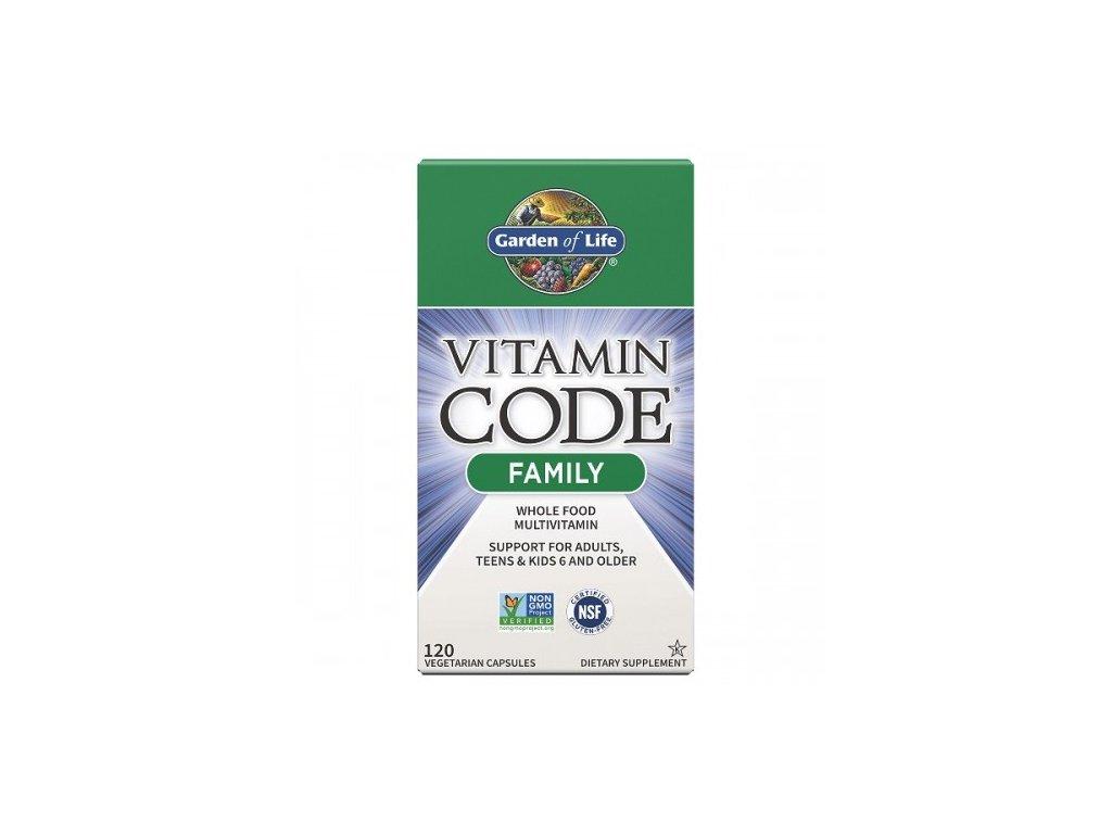 Vitamin Code RAW Family Multivitamin 120 kaps. 500x600