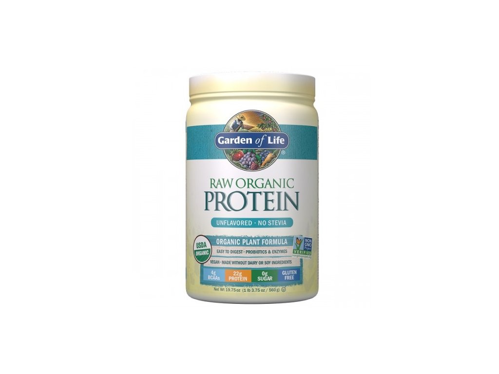 Raw organic protein powder unflavored 560g 500x600