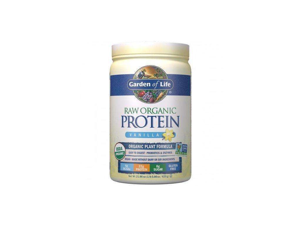 RAW organic protein vanilka 620g 500x600