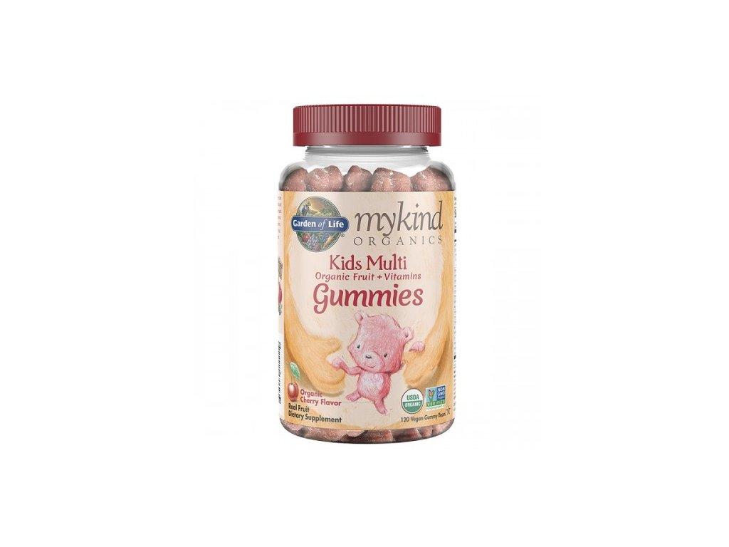 Mykind Organics Multi Gummies Pro Deti z organickeho ovoce cherry 500x600