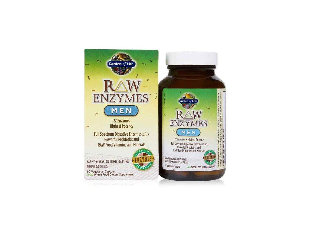 Raw enzymes men 90 kaps. 500x600