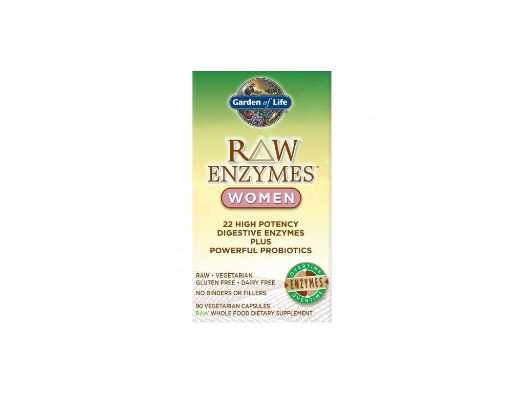 Raw enzymes women digestive health 90 kaps. 500x600