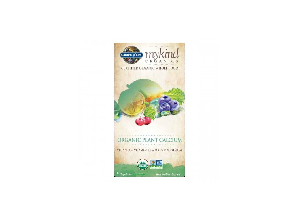 Mykind Organic Plant Calcium rostlinny vapnik 90 tablet 500x600