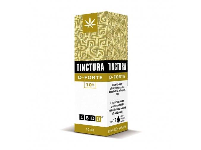 Tinctura krabička d forte10 ml 3D