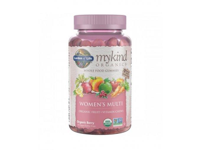 Mykind Organics Multi Gummies Pro Zeny z organickeho ovoce 500x600