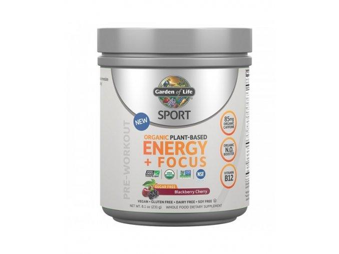 SPORT Organic Plant Based Energy + Focus 231g 500x600