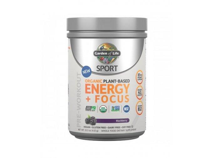 SPORT Organic Plant Based Energy + Focus 432g 500x600