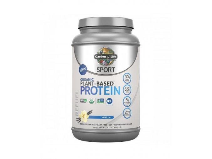 SPORT Organic Plant Based Protein vanilka 500x600