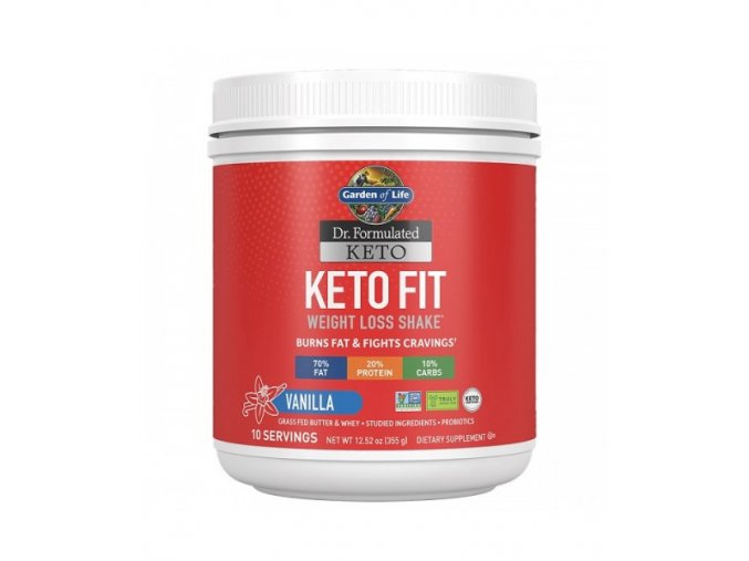 Keto Fit Weight Loss Shake Vanilka 355g 500x600