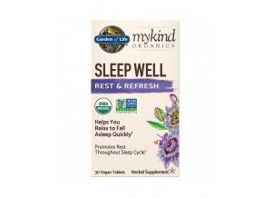 mykind Organics Sleep Well pro dobry spanek tablety 500x600