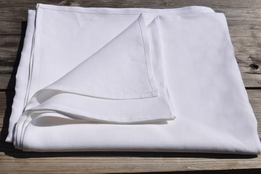 Lněné bílé prostěradlo | E-len