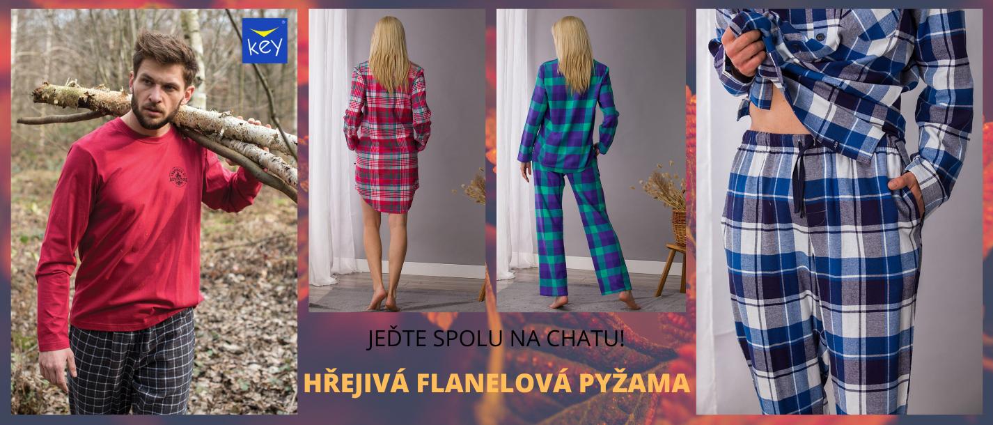 Flanelová pyžama KEY