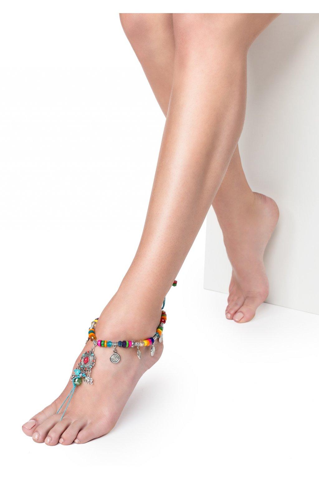 POUPEE ozdoba na nohu KORÁLKY