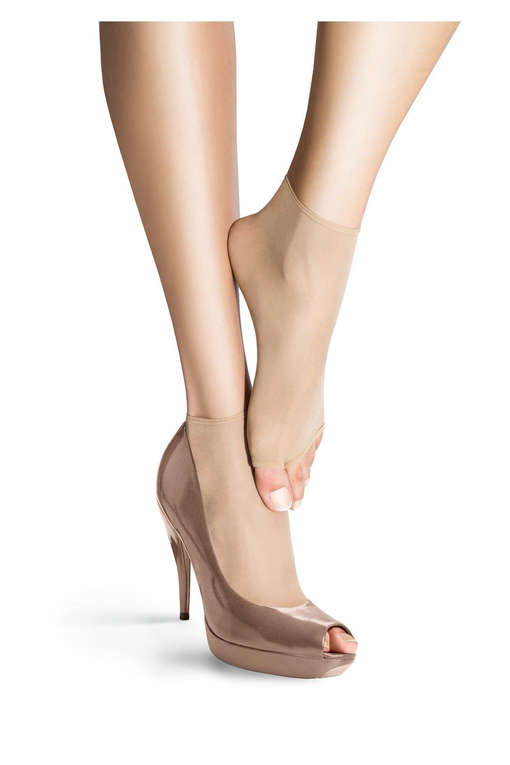 Jemné ponožky s otevřenou špičkou NF 15 NO STRESS