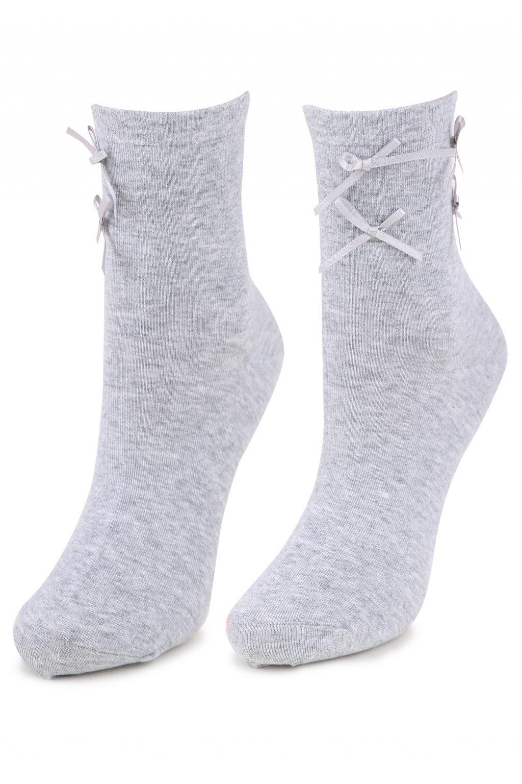 Dámské ponožky zdobené stužkami SC P44