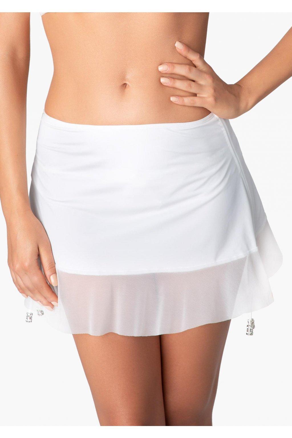 marilyn spodniczka plazowa z falbanka mamba white 2