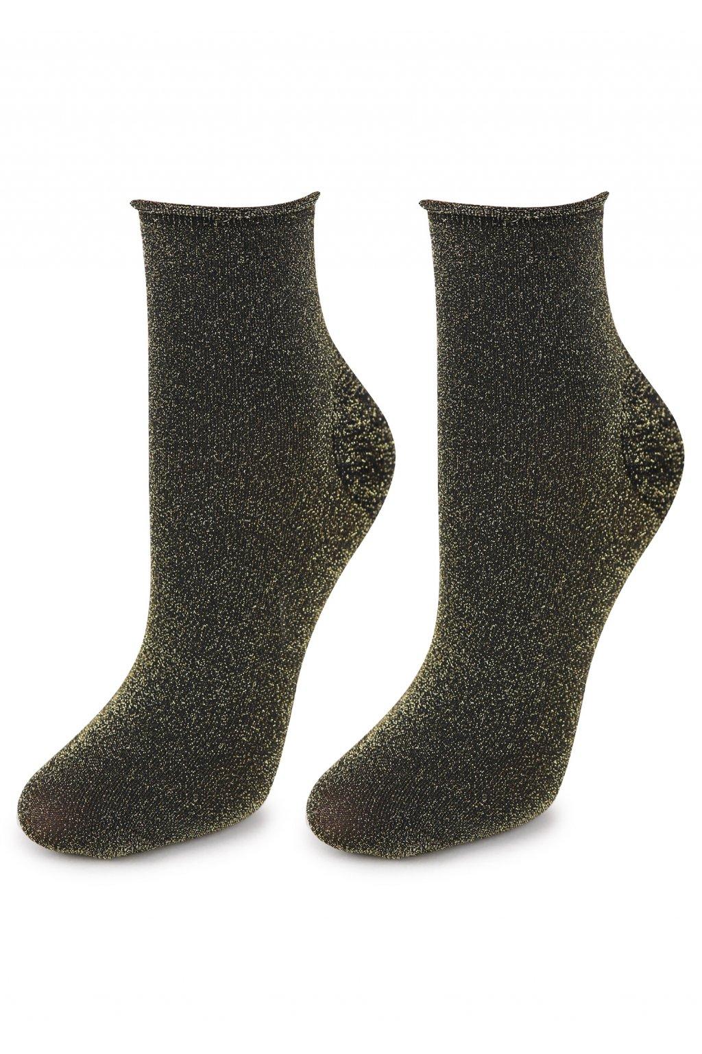 Dámské bavlněné ponožky s lurexem SHINE 04
