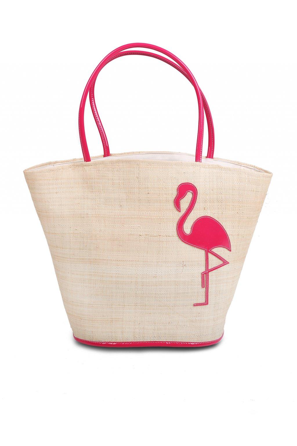 POUPEE plážový koš - taška FLAMINGO