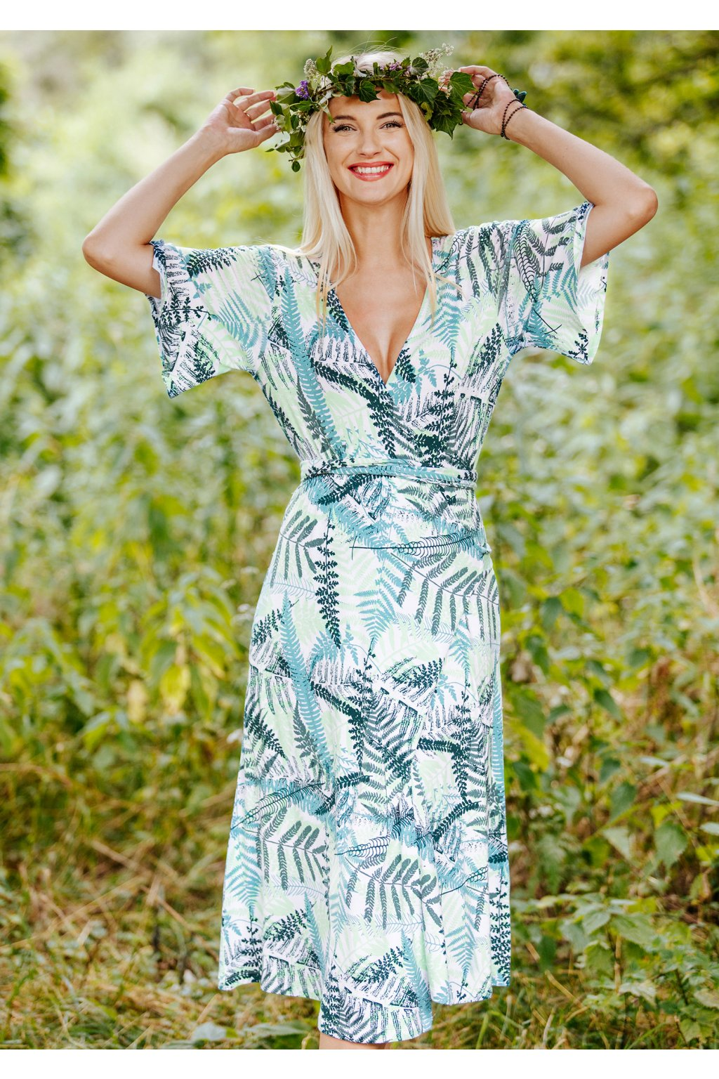 Oboustranné šaty - homewear Key LHD 907 A20