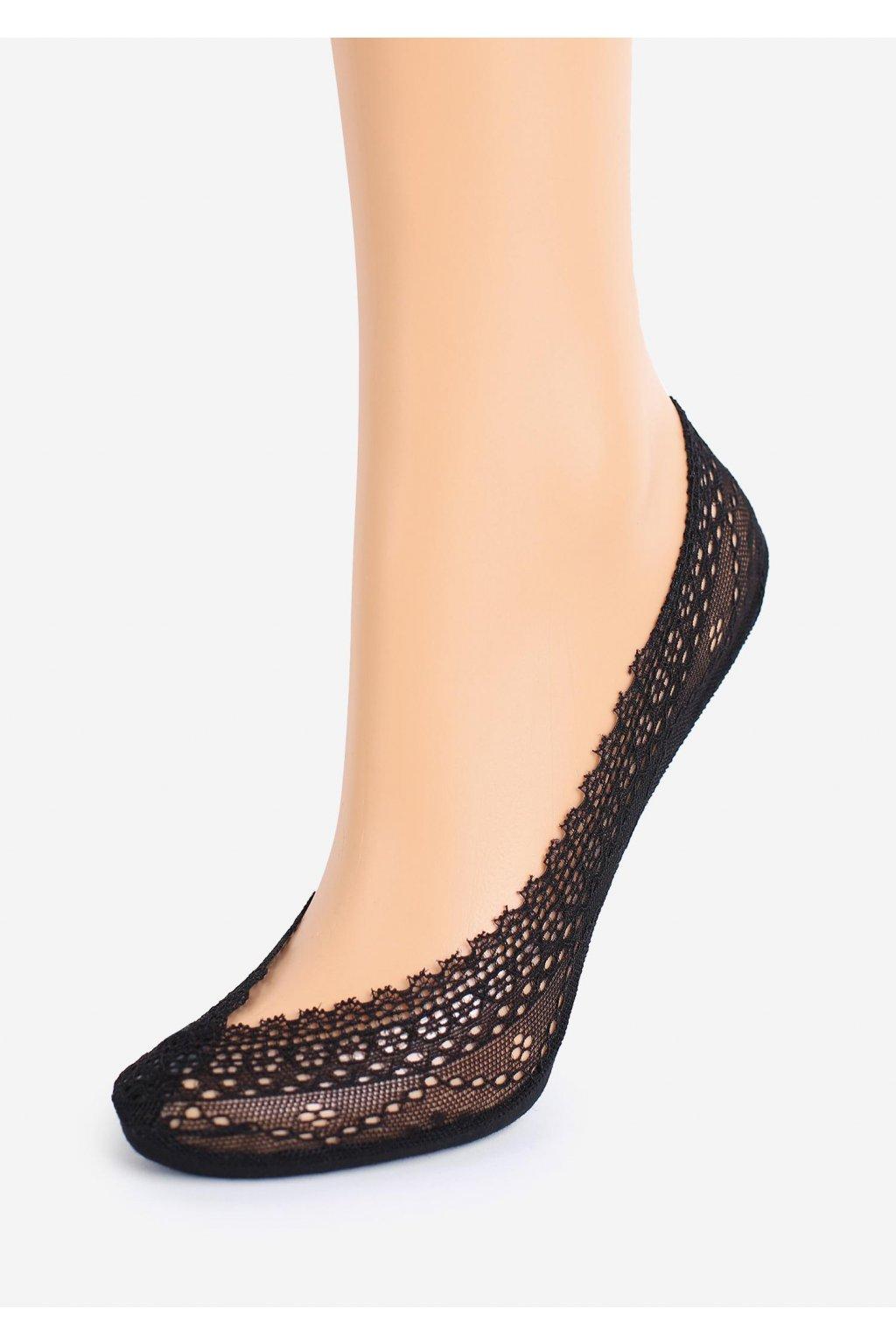 koronkowe stopki damskie z silikonem lux line s20 10