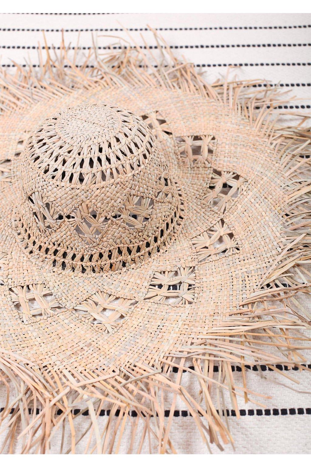 poupee slomiany kapelusz plazowy hat straw 2