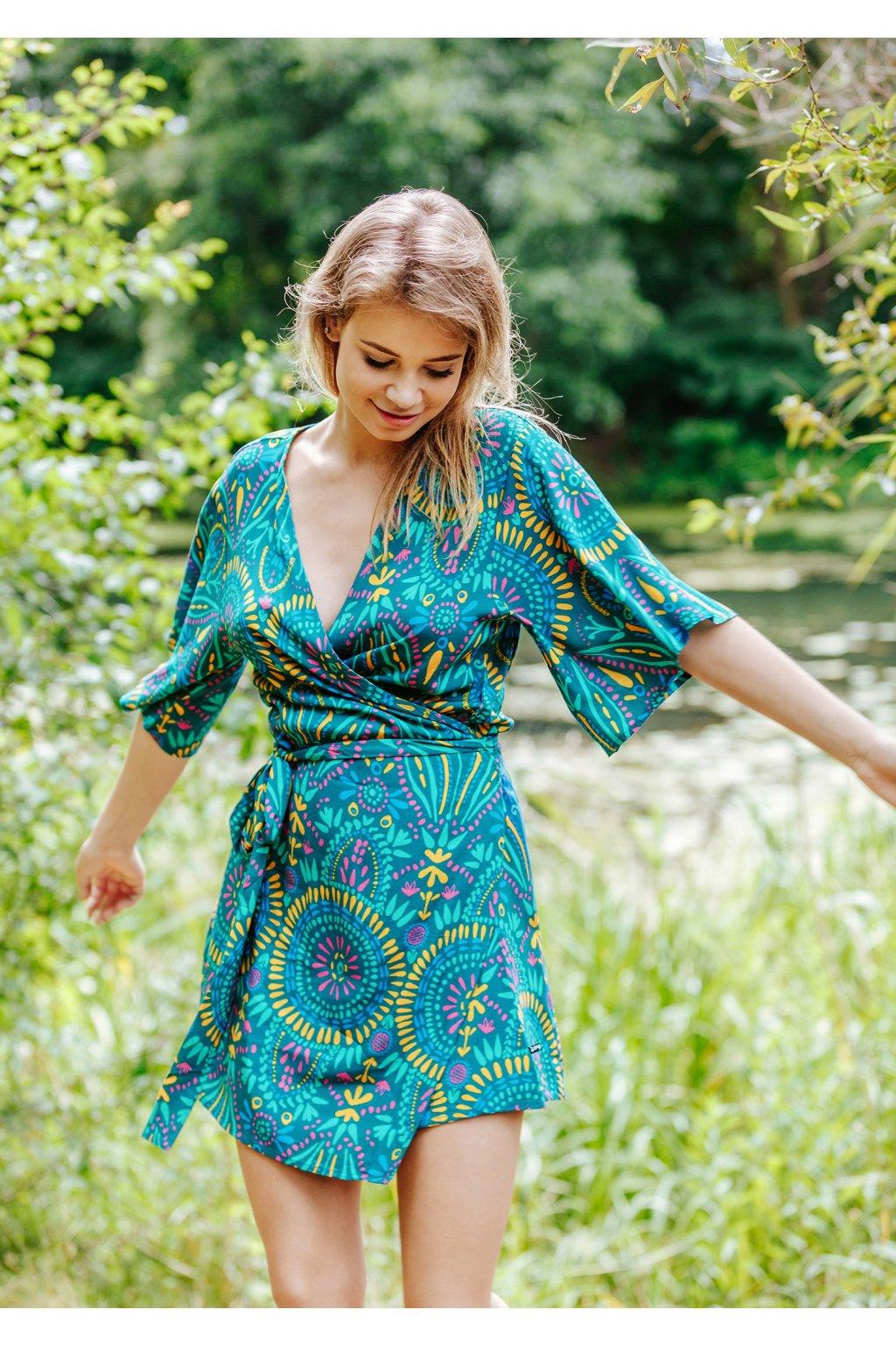 Lehké šaty - homewear z viskózy LHD 905