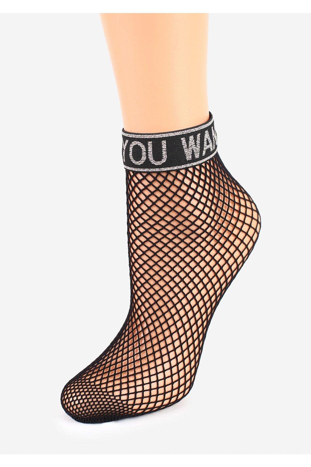 Dámské síťované ponožky - kabaretky CHARLY S54