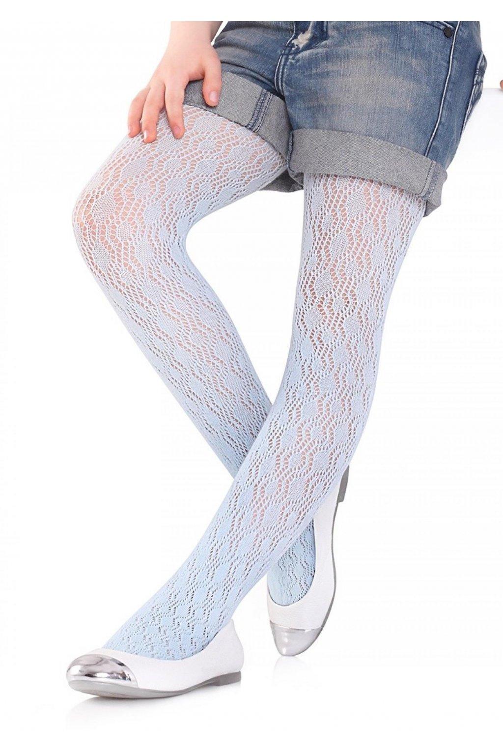 Dívčí bavlněné žakárové punčocháče CHARLOTTE 274 MARILYN