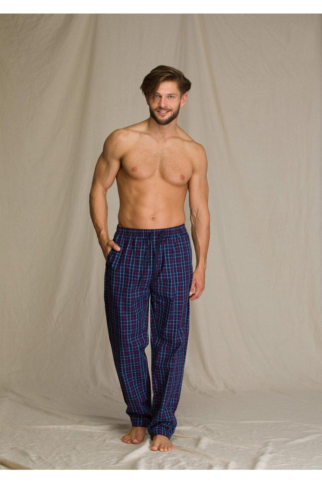 dlugie meskie spodnie w kratke homewear mht 223 1
