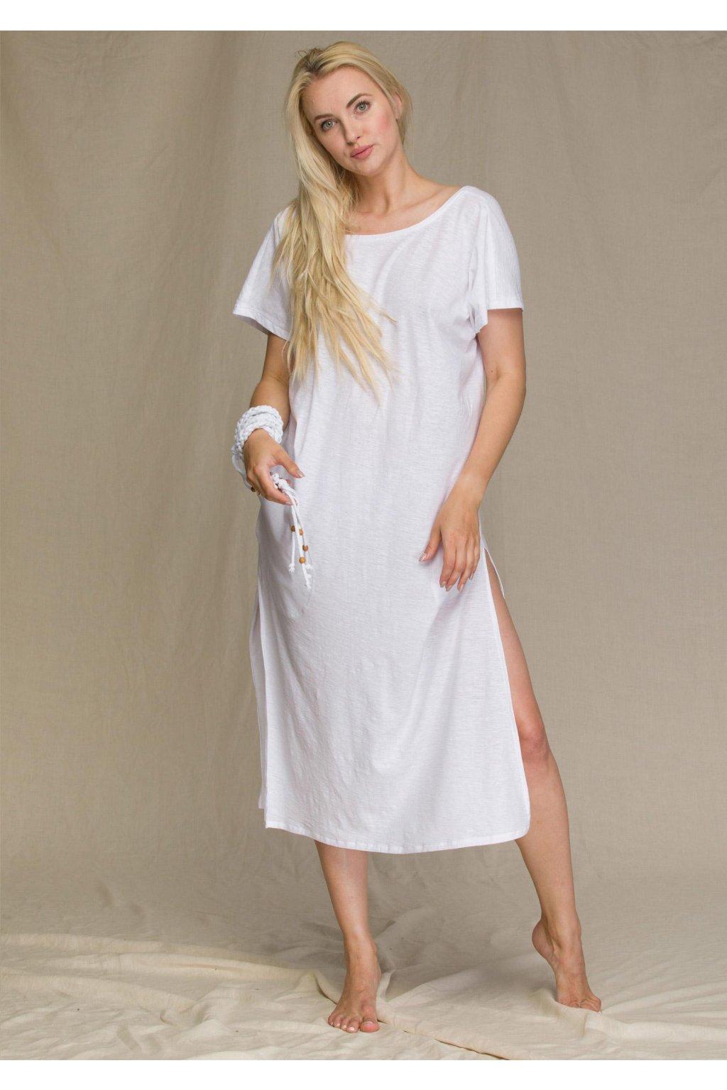 dluga bawelniana sukienka damska homewear lhd 131 1
