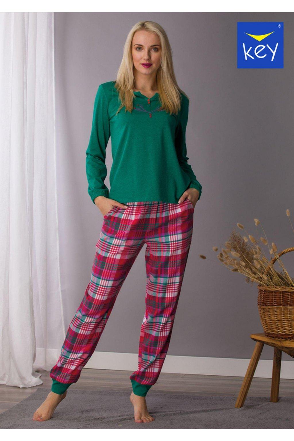 pizama damska z flanelowymi spodniami lns 436 1
