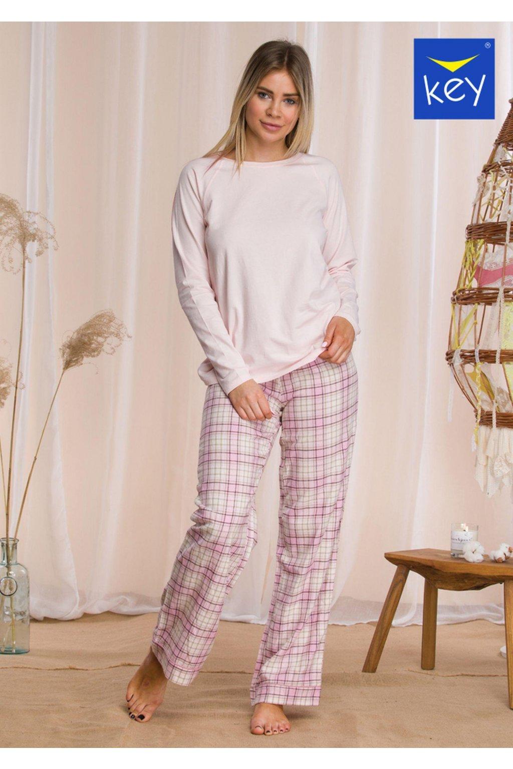 pizama damska z flanelowymi spodniami lns 042 1
