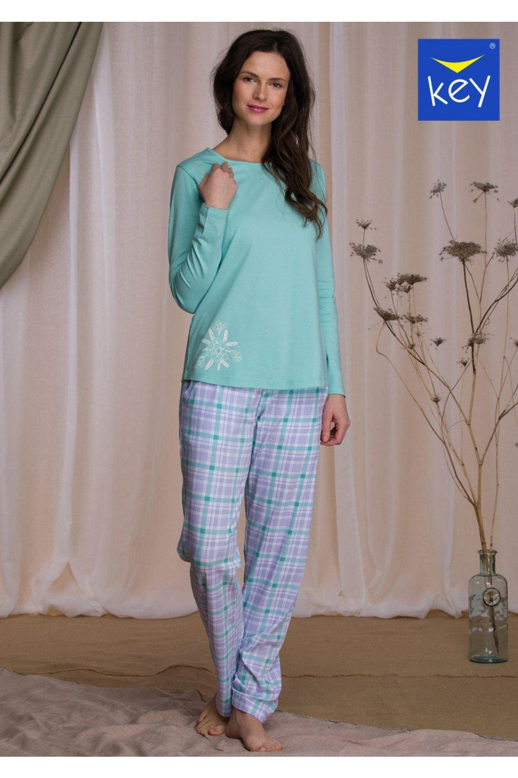 bawelniana pizama damska z dlugimi spodniami lns 422 1