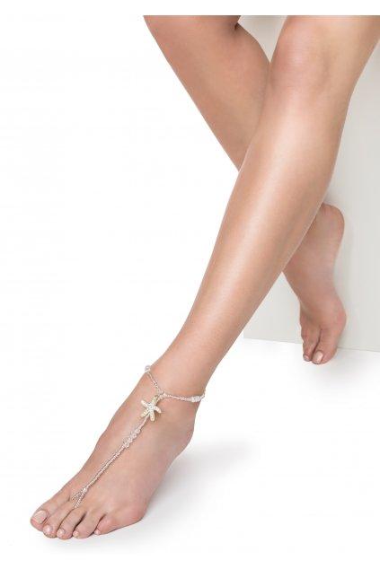 POUPEE ozdoba na nohu HVĚZDICE