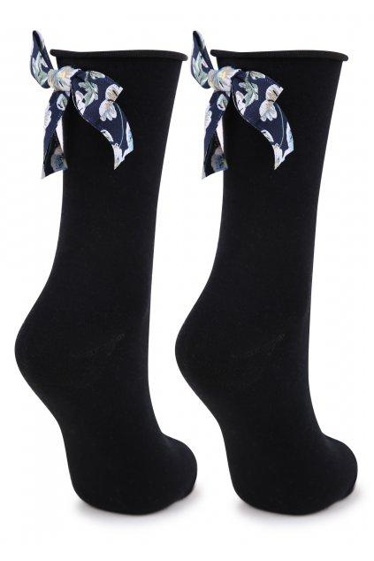 Dámské ponožky s ozdobnou mašlí SC P45