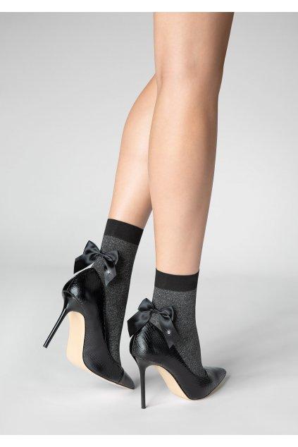 Dámské ponožky s mašlí P22