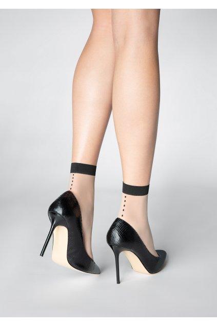Jemné dámské ponožky se zadním švem P28