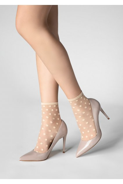 Jemné dámské ponožky s puntíky P21
