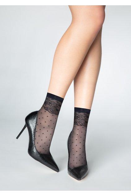 Jemné dámské ponožky s puntíky P23