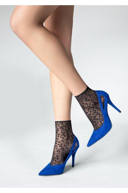 Jemné vzorované dámské ponožky P20