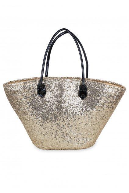 POUPEE plážový koš - taška s flitry