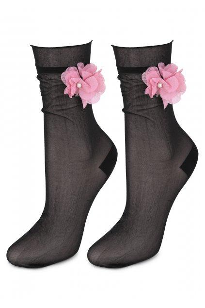 Jemné dámské ponožky AIR SOCKS FLOWER