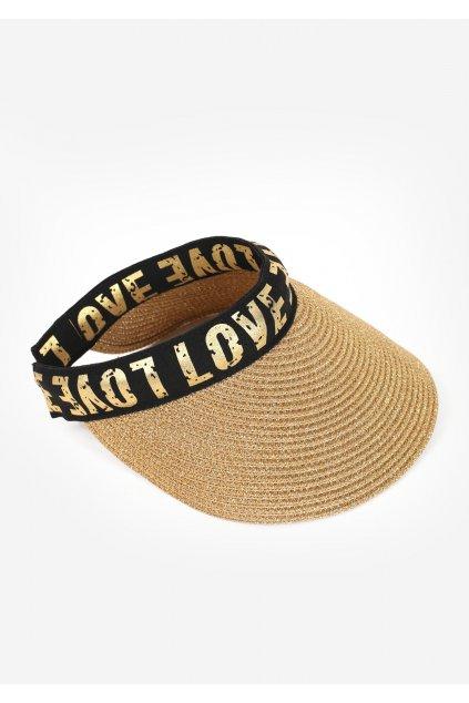 poupee kapelusz daszek plazowy cap love 1
