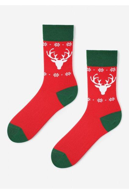 Pánské bavlněné vánoční ponožky s jelenem DEER MARILYN